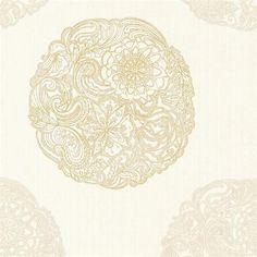 Champagne Cordova Medallion Wallpaper