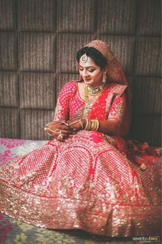 We see many brides and each one is special but something about Pinal as a bride in her lehenga just did wonders! Wedding Film, Wedding Couples, Coffee Table Album, Professional Wedding Photography, Candid Photography, Couple Shoot, Lehenga, Sari, Brides