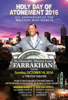 Log in to noi.org to watch the live 21st Anniversary of the Million Man March....Today Sunday10-16-16...Tell a Friend and Invite your Families...within the hour tune in,