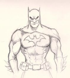 How To Draw Batman - Drawing And Digital Painting Tutorials Online Drawing Tutorial drawing tutorials online Easy Pencil Drawings, Pencil Drawings For Beginners, Pencil Drawing Tutorials, Cool Drawings, Marvel Drawings, Cartoon Drawings, Batman Cartoon Drawing, Sketch Art, Drawing Sketches