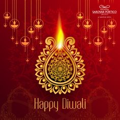"""""""May the lights of Diwali Diyas fill your home with wealth, happiness, and everything that Brings You Joy! Nataraj Sarovar Portico Jhansi wishes everyone a Happy and Joyous Diwali. Happy Diwali 2019, Wealth, Fill, Chandelier, Happiness, Joy, Ceiling Lights, Lighting, Home Decor"""
