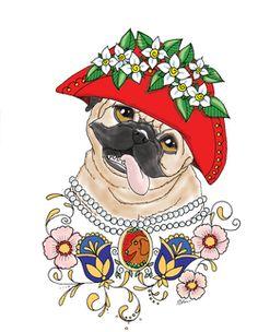 Art of Pug Coloring Book wwwetsycomshopArtByEddy  Art of Pug