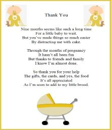 Generic Baby Shower Thank You Wording   Yahoo Image Search Results