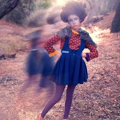 Love this ghostly photo by @megan_dendinger. We should be getting this dress in by the end of this week. Fingers crossed. @posterchildmag @heather_rome #raspberryplum #children #kids #kidsinstyle #forest #organic #girl #dress #girlsdress #wild by raspberryplum