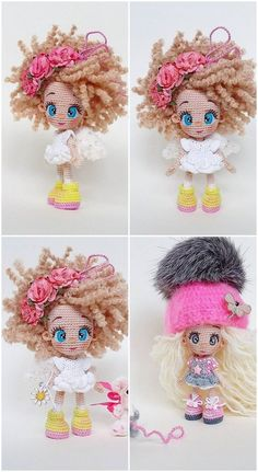 What do you think of Amigurumi knitting toys? Amigurumi crochet new doll free patterns. You know, making a child happy is better than anything in the world. Crochet Vs Knit, Crochet Doll Pattern, Crochet Dolls, Free Crochet, Crochet Patterns, Doll Patterns Free, Baby Girl Patterns, Tiny Dolls, New Dolls