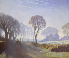 George Clausen, The Road, Winter Morning, c.1923, oil on canvas, 50.8 x 61 cm, Tate Collection.