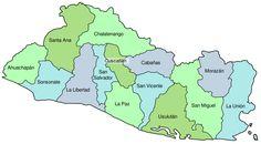 cesesito printear un mapa de el salvador   mapa San Salvador y sus departamentos