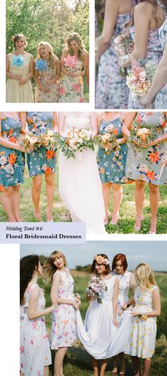 Wedding trend to try: floral bridesmaid dresses