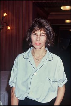 Wearing pj top way before it was cool! Jane Birkin 1992 | marieclaire.it