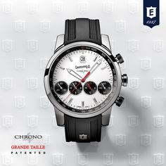 Chrono 4 Grande Taille by Eberhard & Co.  #revolutionarychronograph #patented #registereddesign #4countersinline www.eberhard-co-watches.ch