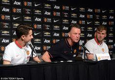 Summer signings Luke Shaw and Ander Herrera join their Manchester United boss