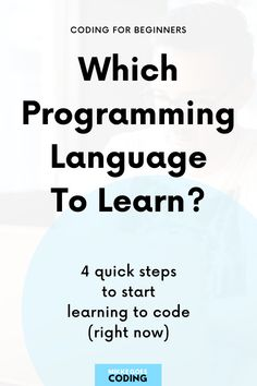 You are new to coding and not sure which programming language you should learn? No worries. In this guide, I will show you 4 easy steps to find the right language to learn, and free online coding courses to start teaching yourself to code right away. Happy learning! #mikkegoes Learn Html, Learn To Code, Programming Languages, Computer Programming, Free Online Coding Courses, Coding For Beginners, Good Tutorials, Web Design, Teaching