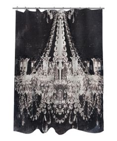 Black & White Dramatic Entrance Shower Curtain