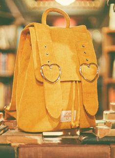Madeline Backpack (Mustard) Madeline Rucksack (Senf) The post Madeline Rucksack (Senf) & Backpack appeared first on Mustard yellow . Aesthetic Backpack, Aesthetic Bags, Aesthetic Colors, Yellow Backpack, Diy Backpack, Travel Backpack, Stylish Backpacks, Cute Backpacks, Leather Backpacks