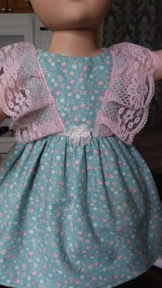 """Doll Clothes-Handmade-American Girl Dolls-Fits 18""""-Small Flowers & Lace  Dress. #Handmade"""