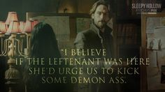 We believe this is our new favorite call to arms. #SleepyHollow