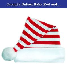 ad5c22214 Preemie, Newborn and Toddler Quality Unisex Red and White Striped Christmas  Baby Santa Hat. 7 sizes for premature babies, NICU micro preemies, infants,  ...