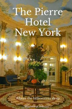 The Pierre on 5th Avenue is one of New York's top luxury hotels. I splurged - here's my review. http://wanderingcarol.com/review-the-pierre-hotel/