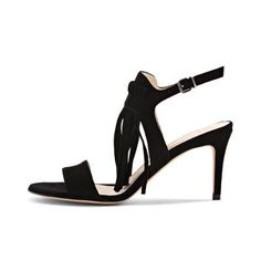 Sandal Shops, Fringes, Black Sandals, Bordeaux, Spring Summer, Heels, Fashion, Fashion Styles, Branding