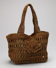 Take a look at this Thyme Rosette Crochet Small Chan Chan Tote by florabella on #zulily today!