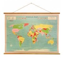 Generic vintage world map maps giant poster print 55x39 college carte du monde vintage vintage world mapsworld gumiabroncs Image collections