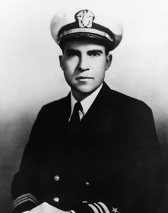 Navy lieutenant (and future US President) Richard Nixon, 1945.