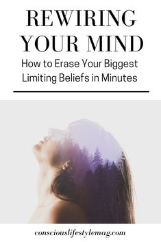 How to Rewire Your Mind and Erase Limiting Beliefs: Overcoming your limiting beliefs permanently is incredibly simple once you know how they work and have effective techniques to erase them from your mind. Nlp Techniques, Belief Quotes, Soul Healing, Healing Quotes, Emotional Healing, Mind Power, Mind Tricks, Subconscious Mind, Psychology Facts