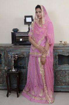 #Pink #Georgette #Poshak With Aari Work  #Casual, #Ceremonial, #Festival, #Mehendi, #Wedding #designerposhak #rajputi Pakistani Couture, Pakistani Bridal Dresses, Pakistani Outfits, Bridal Lehenga, Shadi Dresses, Royal Dresses, Sanam Baloch Dresses, Indian Wedding Bride, Indian Weddings