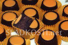 Hořké pralinky s pomerančovou náplní