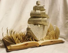 Treacherous Voyage Book Alteration by WetCanvasArt on Etsy, $120.00