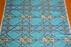 50-tals Tyg - Tuppen Textil - Mosaik