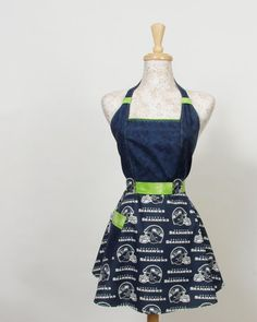 Seattle Seahawks Navy and Lime Green