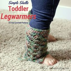 Free Crochet Pattern: Simple Shells Toddler Legwarmers | Guest Contributor Post on #myhobbyiscrochet
