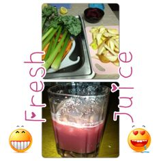 I LOVE making fresh juice. It's SO easy. Just get juicer and throw in whatever veggies you like...fruit too.