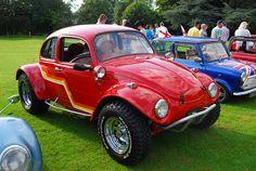 Red Baja VW Beetle