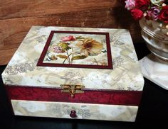 Porta Bijoux Mod5 Floral Rubi | Dona Abelha | Elo7