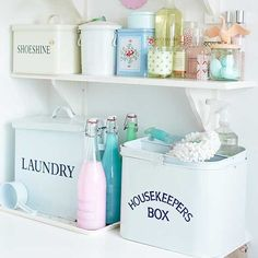 Pretty pastel utility room accessories | Traditional utility room design ideas | Utility room | PHOTO GALLERY | Style at Home | Housetohome....