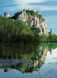 Ruins of Devín Castle, Slovakia. Near Bratislava. Travel Around The World, Around The Worlds, Places To Travel, Places To Visit, Countries Europe, Bratislava Slovakia, Heart Of Europe, Famous Places, Central Europe