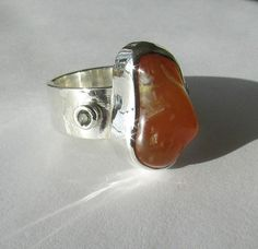 Oregon Coast Agate and Sapphire Sterling by OregonCoastAgates Rock Jewelry, Unique Jewelry, Oregon Coast, Agate, Sterling Silver Rings, Sapphire, Handmade Gifts, Etsy, Kid Craft Gifts