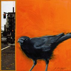Art From My Easel...by Jacqueline McIntyre: Three NEW CROWS (ALL SOLD)