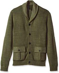 Lucky Brand Men's Military Shawl Collar Cardigan Sweater Mens Shawl Collar Cardigan, Sweater Cardigan, Men Sweater, Sweater Outfits, Lucky Brand, Sweaters, Cardigans, Military, Blazer