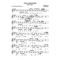 Piano Keyboard Guitar Violin Sax sheet music books of Bollywood songs in Treble and Base clef with lyrics chords Hindi songs notations in ABCD and SAREGAMA Keyboard Sheet Music, Sheet Music Pdf, Violin Sheet Music, Song Sheet, Piano Music, Music Sheets, Song Notes, Music Notes, Lyrics And Chords