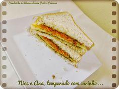 Nice e Ana, temperado com carinho...: Sanduíche de Muçarela com Pesto e Cenoura.