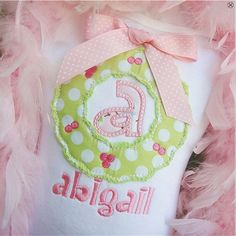 Christmas Wreath Initial Shirt with by KnuckleheadNeedlewrk, $25.00