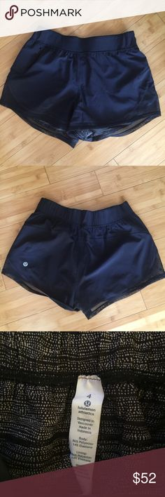 Lululemon Women's Black Mesh Shorts Size 4 In like new condition and features a right sided pocket and mesh trim. Offers are always welcome. Bundle with other items from my closet for additional savings and reduced shipping cost. 1-business day shipping. lululemon athletica Shorts