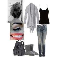 """lazy day school outfit"" by brittmania on Polyvore"