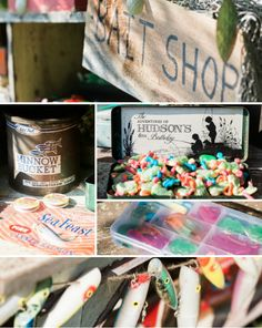Bait Shop at Birthday Party - perfect place to fill up on sweet treats!