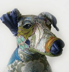 ...sculpture covered in textiles