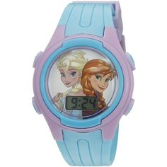 Disney Girl's Quartz Blue Casual Watch (Model: FNFKD163CT) ($17) ❤ liked on Polyvore featuring jewelry, watches, quartz watches, blue quartz jewelry, water resistant watches, disney jewellery y waterproof watches