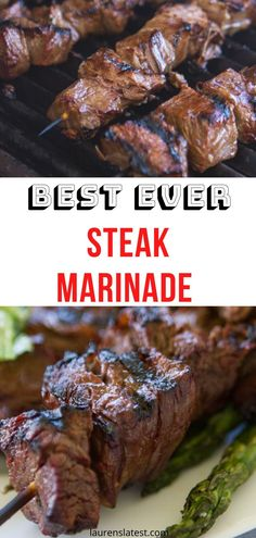 A recipe for Steak Marinade giving you tender, juicy and flavorful meat every time. This is seriously the best steak marinade recipe. Marinade Für Steaks, Steak Marinade Recipes, Grilling Recipes, Pork Recipes, Cooking Recipes, Game Recipes, Beef Marinade For Kabobs, Steak Tenderizer Marinade, Best Marinade For Steak